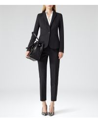 Reiss - Black Joanne Cropped Tailored Trousers - Lyst