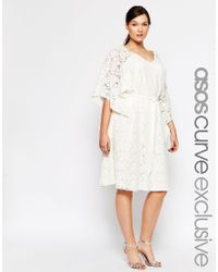 ASOS | Natural Curve Kimono Dress In Lace | Lyst