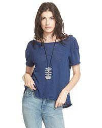 Free People | Blue 'prairie' Tee | Lyst