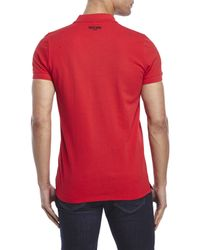 Moschino - Red Sun Burn Polo for Men - Lyst