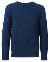 A.P.C. - Blue Crew Neck Sweater for Men - Lyst