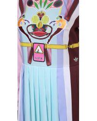 Adidas Originals - Multicolor Print Pleated Dress - Multi - Lyst