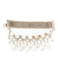 Ermanno Scervino | Metallic Mother Of Pearl Embellished Bracelet | Lyst