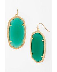 Kendra Scott | Green 'danielle - Large' Oval Statement Earrings | Lyst