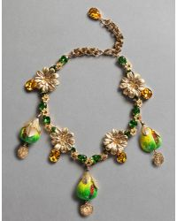 Dolce & Gabbana | Green Fig Necklace | Lyst