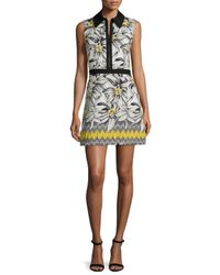 Alice + Olivia - Multicolor Elli Collared Floral Shirtdress - Lyst