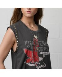Denim & Supply Ralph Lauren | Gray Studded Sleeveless Eagle Tee | Lyst