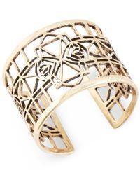 Lucky Brand | Metallic Goldtone Openwork Cuff Bracelet | Lyst