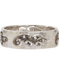 Cathy Waterman - White Cutout Paisley Leaf Band - Lyst