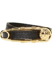 Versus - Black Safety Pin Wrap Bracelet - Lyst