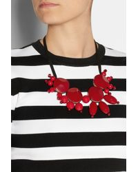 Marni | Red Resin and Cord Necklace | Lyst