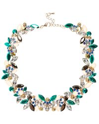 River Island - Multicolor Turquoise Gem Statement Necklace - Lyst