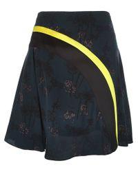 KENZO - Blue 'bamboo Tiger' Skirt - Lyst