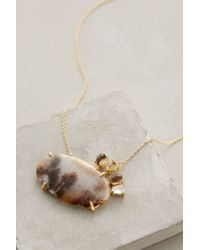 Indulgems | Brown Moody Agate Necklace | Lyst