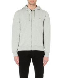Paul Smith | Gray Zebra Cotton Hoody for Men | Lyst