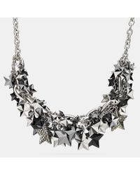 COACH | Metallic Pave Clustered Metal Stars Necklace | Lyst