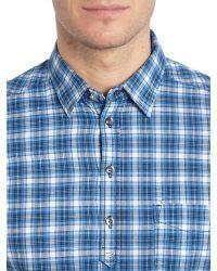 DIESEL - Blue S-jugo Check Short Sleeve Shirt for Men - Lyst