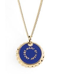 Marc By Marc Jacobs | Blue 'lost & Found' Bottle Cap Pendant Necklace | Lyst