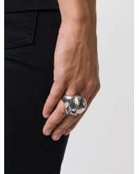 Alexander McQueen | Metallic Puzzle Skull Ring for Men | Lyst
