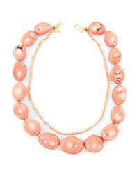 Chan Luu | Pink Salmon Coral Necklace | Lyst