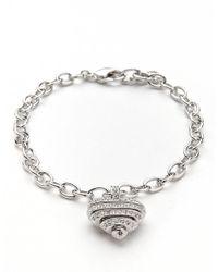 Swarovski - Metallic Sensible Pave Heart Bracelet - Lyst