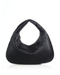 Bottega Veneta   Black Veneta Medium Hobo Bag   Lyst