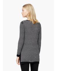 Mango | Black Striped Rib Sweater | Lyst