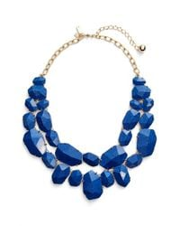 Kate Spade | Blue 'quarry Gems' Bib Necklace | Lyst