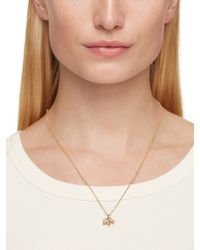 kate spade new york - Metallic Dainty Sparklers Pave Elephant Pendant - Lyst