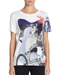 Prabal Gurung | Multicolor Abstract Floral Crewneck T-Shirt | Lyst
