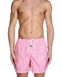 Fedeli - Pink Swimming Trunk for Men - Lyst