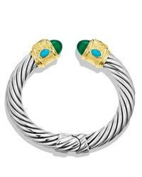 David Yurman | Metallic Renaissance Bracelet With Green Onyx, Peridot & Gold | Lyst