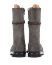 Rick Owens | Green Army Leather Boots | Lyst