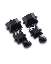 Patrizia Pepe | Black Costume Jewellery Earrings With Stones | Lyst