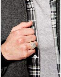 Cheap Monday | Metallic Plate Ring for Men | Lyst