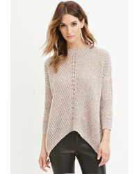 Forever 21 | Natural Contemporary Marled Knit Sweater | Lyst