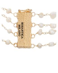 Rosantica By Michela Panero | White Prateria Layered Pearl Necklace | Lyst