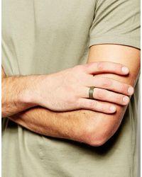 ASOS - Green Ring In Rubberised Khaki for Men - Lyst