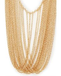 Forever 21 | Metallic Draped Chain Necklace | Lyst