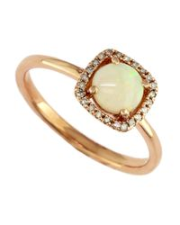 Effy | Pink 14k Rose Gold Opal And Diamond Ring | Lyst