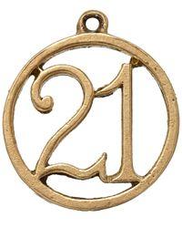 Annina Vogel - Metallic Vintage Gold 21 Charm - Lyst