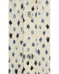 Burberry - Natural Leaf Print Cotton Shirt for Men - Lyst