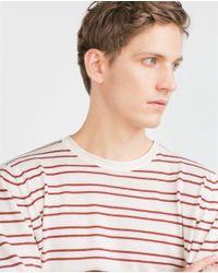 Zara | Purple Striped Sweater for Men | Lyst