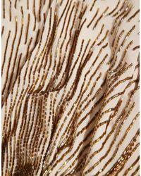 ASOS - Brown Cascade Beaded Capelet - Lyst