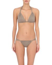 Lazul - Gray Maia Triangle Bikini Top - Lyst