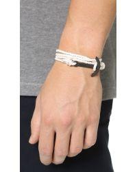 Miansai - Natural Modern Anchor Noir Rope Bracelet for Men - Lyst
