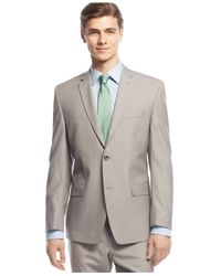 Andrew Marc - Brown Marc New York By Tan Sharkskin Suit for Men - Lyst