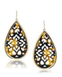 Carolee | Metallic Fashion Ave Tortoise Filigree Teardrop Earrings | Lyst