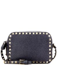 Valentino - Blue Rockstud Leather Cross-body Bag - Lyst