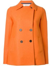 Harris Wharf London - Orange Short Peacoat - Lyst